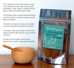 Ground Coconut Palm Sugar with GINGER